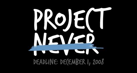 Project Never logo and deadline