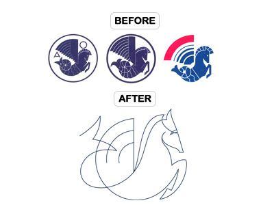 Air France Hippocampe Aile before and after