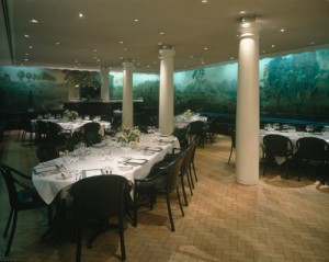 A view of the Tate Gallery restaurant with Rex Whistler mural