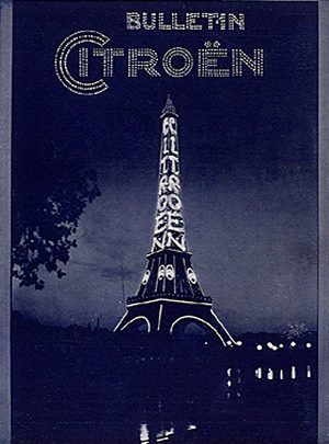 An early billboard of citroen