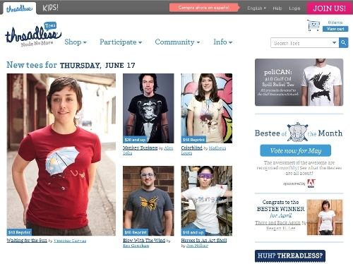 Threadless Screenshot